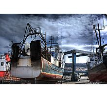 Builds da boat Photographic Print