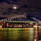 Harbour Bridge at moonlight by andreisky