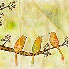 Birds on Berry Treee -Akebono- by naokosstoop