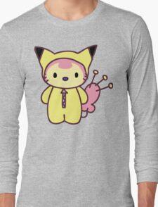 Hello Skitty - Pikachu Long Sleeve T-Shirt