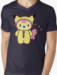Hello Skitty - Pikachu Mens V-Neck T-Shirt