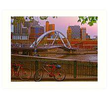 Melbourne in Pink Art Print