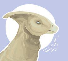 Parasaurolophus  by squeakycat