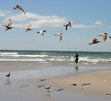 Fishing on Long Beach Island, NJ by dorisandfred