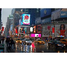 Rainy Times Square Photographic Print