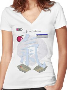 Plain Mirepoix. Women's Fitted V-Neck T-Shirt