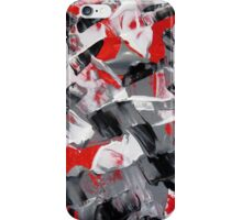 Red and Gray Abstract Design  iPhone Case/Skin