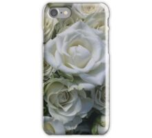 White Roses Floral Bouquet iPhone Case/Skin