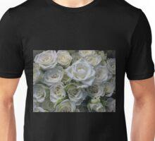 White Roses Floral Bouquet Unisex T-Shirt
