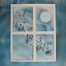 "Just a Simple Branch- 11""x 14""-2008 by linmarie"