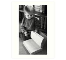 Little Girl, Big Book  Art Print