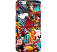 Colorful Abstract Design, Rainbow Colored Art iPhone Case/Skin