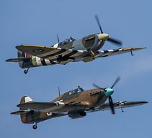 Spitfire and Hurricane by Lee Wilson