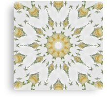 Creamy Yellow Rose Kaleidoscope Art 7 Canvas Print