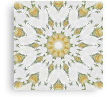 Creamy Yellow Rose Kaleidoscope Art 7 Canvas Print