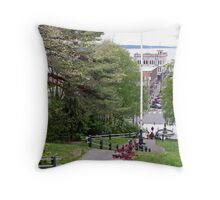 """""""From Uptown to Downtown"""" Throw Pillow"""