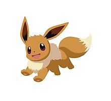 Evee Pokemon Simple No Borders Photographic Print