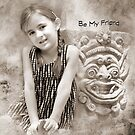 """Smiles """"Be My Friend"""" ~ Greeting Card by Susan Werby"""