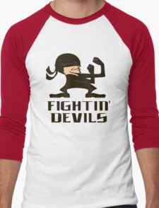 FIGHTIN' DEVILS Men's Baseball ¾ T-Shirt