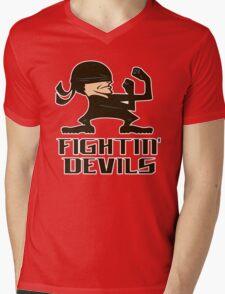 FIGHTIN' DEVILS Mens V-Neck T-Shirt