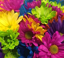 Vibrant Bright Neon Flowers by silverdragon