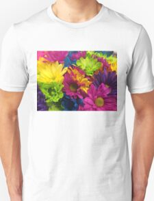 Vibrant Bright Neon Flowers T-Shirt
