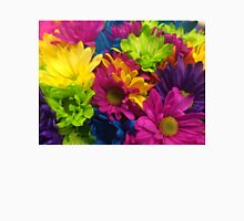 Vibrant Bright Neon Flowers Unisex T-Shirt