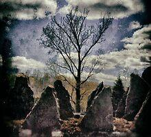 Purple Sky Standing Stones by Robert Plummer
