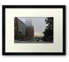 Foggy Milwaukee Framed Print
