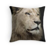 The White Lion Throw Pillow