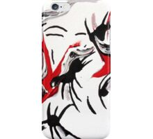 Quirky Design, Red, Black and White Art  iPhone Case/Skin
