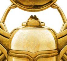Gold Egyptian Scarab Sticker