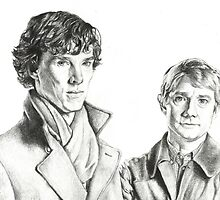 Sherlock Holmes and John Watson by EnigmaticDoodle