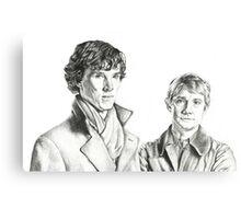 Sherlock Holmes and John Watson Canvas Print