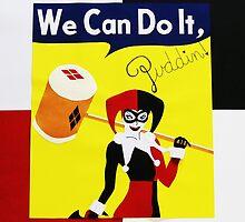 Harley Quinn as Rosie the Riveter by HerkDesigns