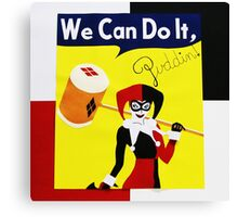 Harley Quinn as Rosie the Riveter Canvas Print