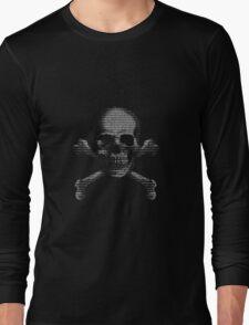 Hacker Skull and Crossbones Long Sleeve T-Shirt