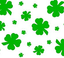 Green Shamrocks for the Irish by Lisa Kyle Young