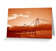 Chinese fishing nets, India Greeting Card