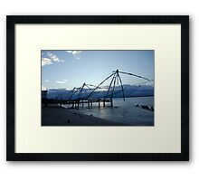 Chinese fishing nets, India Framed Print