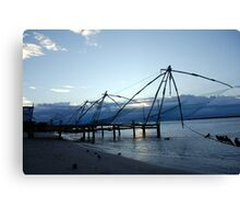 Chinese fishing nets, India Canvas Print