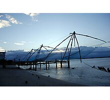 Chinese fishing nets, India Photographic Print