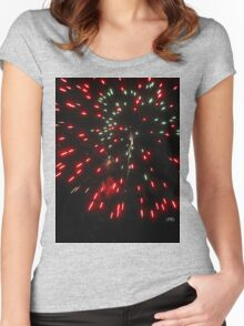 red shower of fire Women's Fitted Scoop T-Shirt