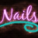 Neon Nails Sign by Packrat