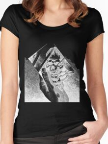 Replica (Black) Women's Fitted Scoop T-Shirt