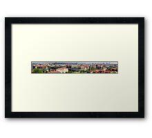 Prague Panorama cityscape Framed Print