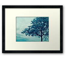 Tree in Cool Framed Print