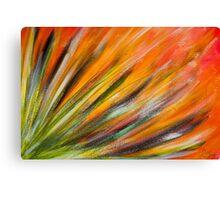 Desert Bloom in Orange Canvas Print