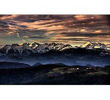 View from Limbarska gora Photographic Print
