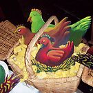 Chickens in a basket for 'Fiddler on the Roof' by Penny Hetherington
